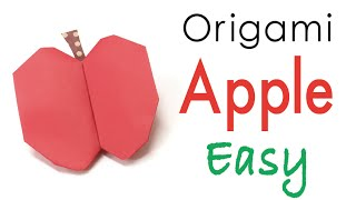 Easy☺︎ Origami Paper Apple 🍎 Fruit 🍏 - Origami Kawaii〔#141〕