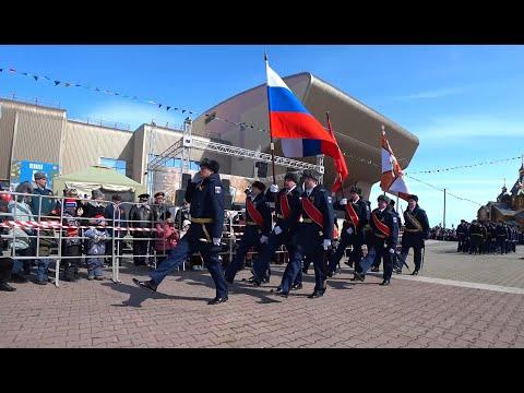 """Праздник """"День Победы"""" в городе Анадырь. Бессмертный полк. Чукотка. Дальний Восток. 9 мая 2018 года."""