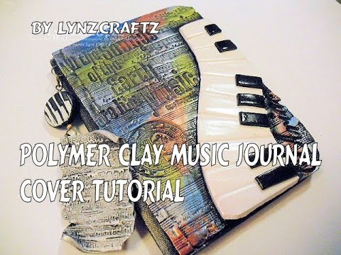 Polymer Clay Music Journal Cover tutorial