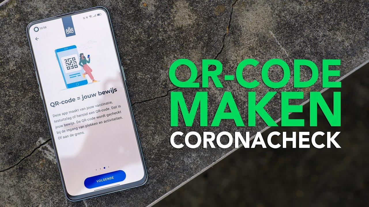 Tip: zo maak je een qr-code met de CoronaCheck-app