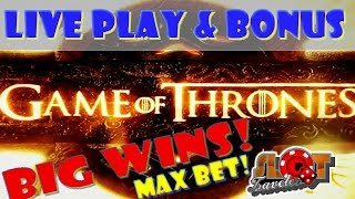 ★MAX BET GAME OF THRONES SLOT ★ Slot machine bonus at Encore Las Vegas ♠ SlotTraveler ♠(Have you subscribed?! Please take a moment & THUMBS UP! Twitter: @TravelerSlot Live Casino Tweets & Fun stuff Facebook: ..., 2016-04-26T19:30:00.000Z)