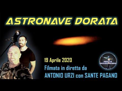 Astronave dorata filmata in diretta da Antonio Urzi con Sante Pagano, Cinisello Balsamo (Mi)