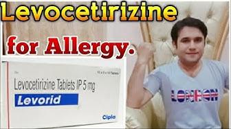 Levocetirizine dihydrochloride 5 mg tablet uses dosage & side effects