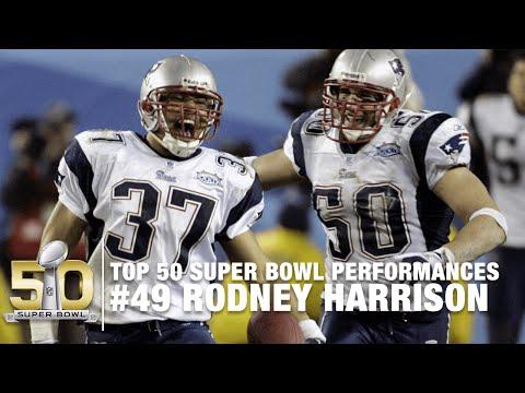 #49: Rodney Harrison Super Bowl XXXIX Highlights I Top 50 Super Bowl Performances
