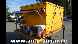 Youtube-Video Oletto 2m³ Thermo Asphalt Container Hot Box H02 wie A.T.C. / HMB