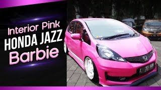 Interior Pink Honda Jazz Barbie