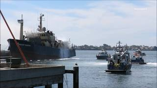 San Diego Bay Boat Fire (Part 1) 9/29/2017