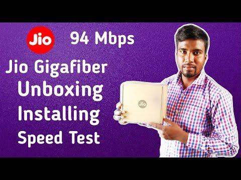 Jio Gigafiber Unboxing | Instalation | Speed Test | Price