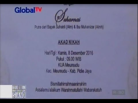 Gempa Pidie Aceh, Rencana Pernikahan Kandas Bersama Reruntuhan Bangunan - BIS 09/12