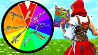 FORTNITE *NEW* 1v1 RAINBOW WHEEL BINGO vs MY LITTLE BROTHER!