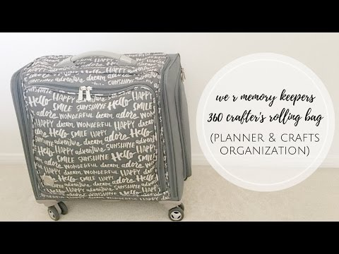 We R Memory Keepers 360 Crafter's Rolling Bag (Planner & Craft Organization)