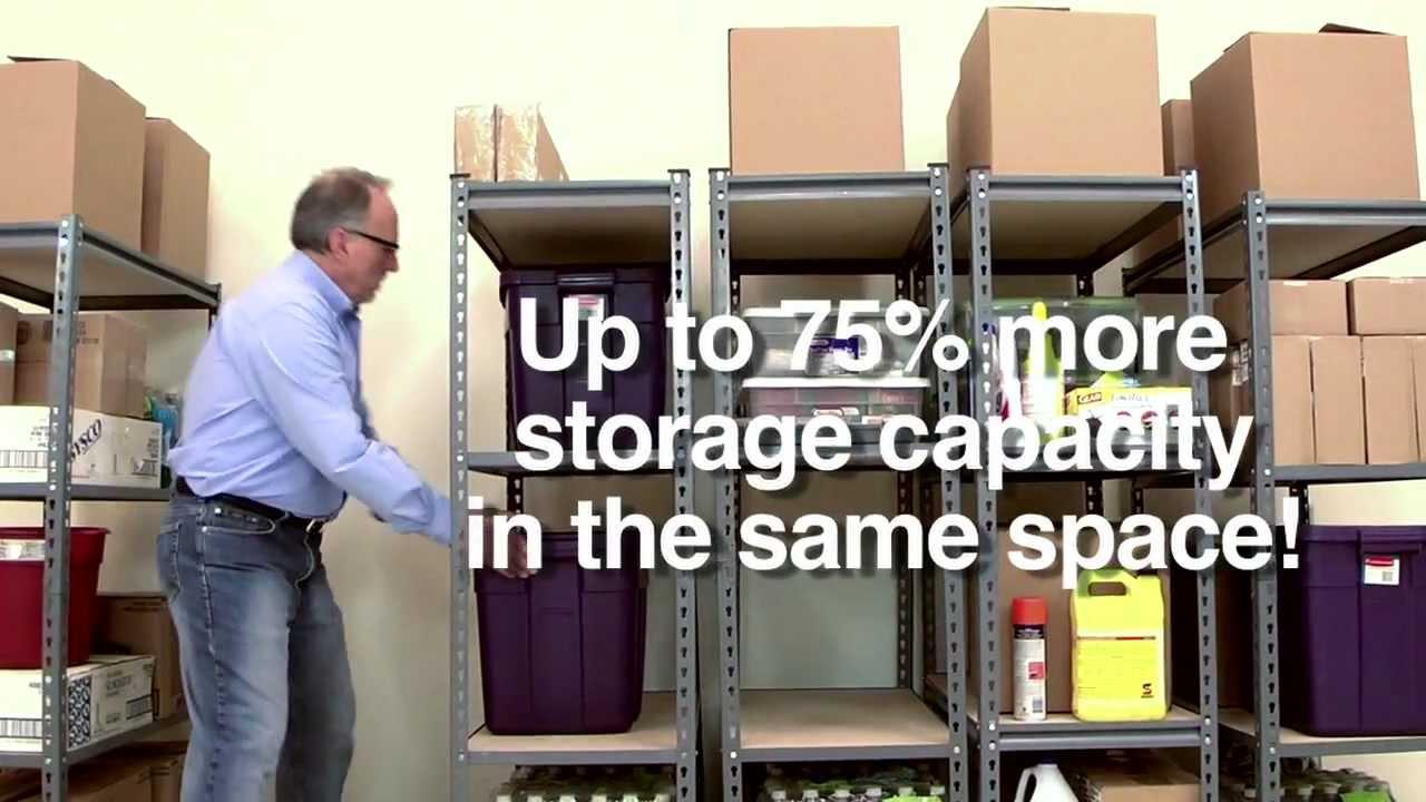 garage workbench storage ideas - Space Trac Sliding Shelves Improve Garage Organization