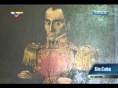 Maduro muestra cuadro de Bolívar hecho por pintor Espinosa