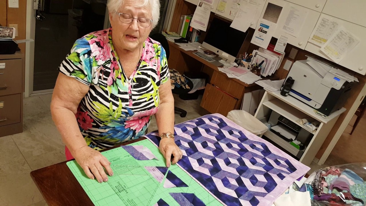 Optical Illusion Quilt   Kaye Wood Slumber Party   Episode 4   YouTube