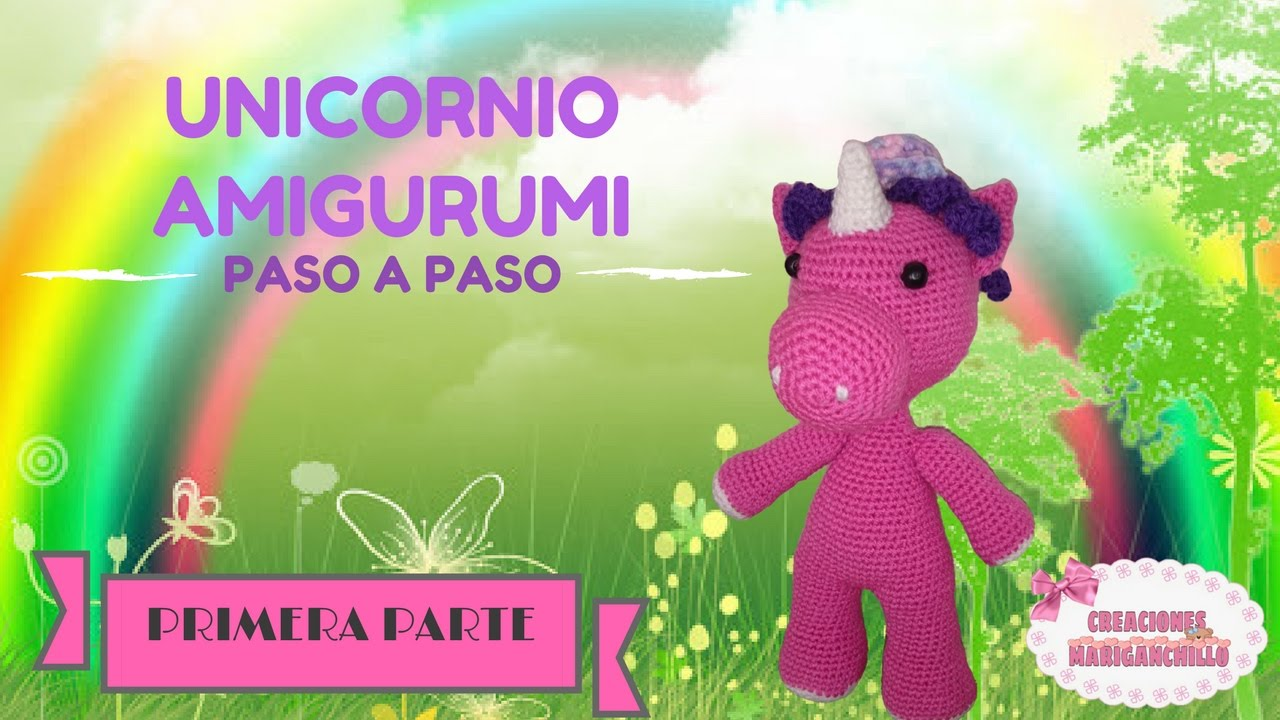 Pequeño Bebe Unicornio o Pegaso Amigurumi tejido a Crochet - YouTube | 720x1280