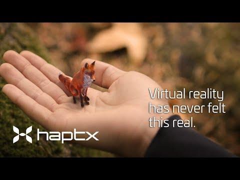 Дебютное видео перчаток HaptX Gloves - передача тактильных ощущений в виртуальной реальности