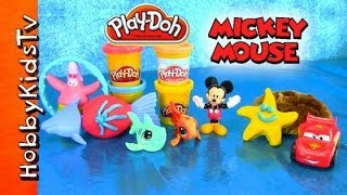 PLAY-DOH Mickey Mouse Beach Sand, Patrick Star, LPS, Lightning McQueen, [Littlest Pet Shop] [Disney]