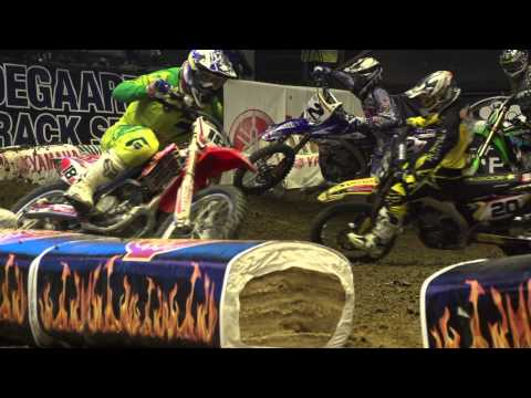 Robbie Maddison performs HUGE FMX stunts at Super Cross Herning