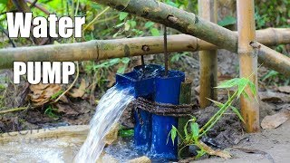 Primitive WaterPump - How to Make Leg Water Pump using Bamboo