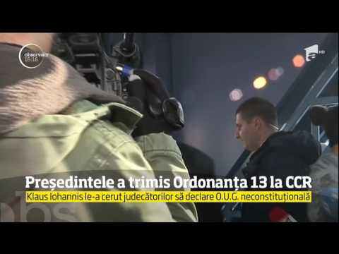 Controversata Ordonanţă, trimisă de președinte la Curtea Constituţională