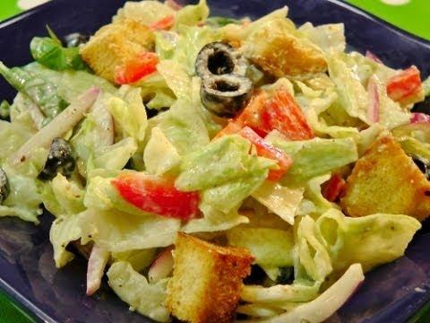 Salad With Yogurt Dressing