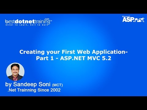 Creating your First Web Application- Part 1 - ASP.NET MVC 5.2 Tutorial
