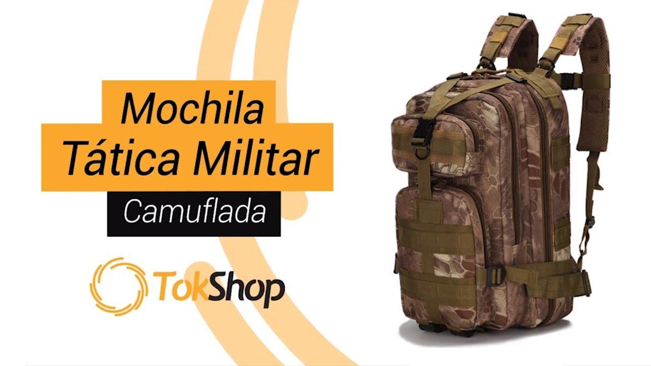f5ae0d63d Mochila Tática Militar Camuflada - Tok Shop - YouTube