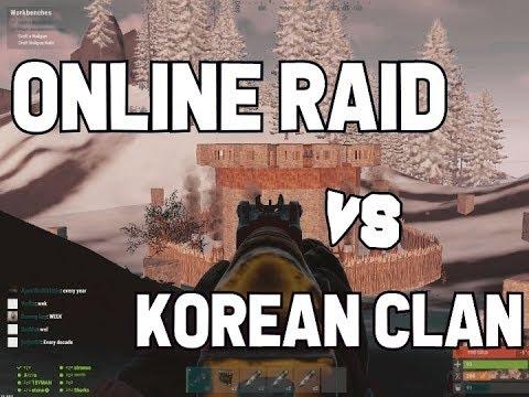 RUST - Online Raid vs Korean Clan thumbnail