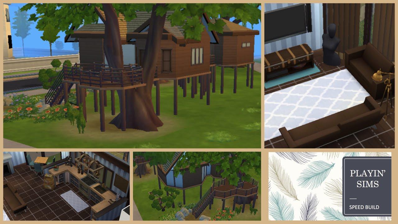 Urban treehouse sims 4 houses - Top Secret Tree House