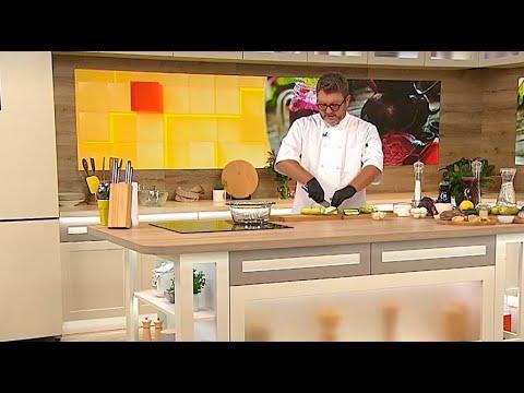 """Дима Борисов приготовил фирменный холодный суп в студии шоу """"Твой день"""" на 1+1"""
