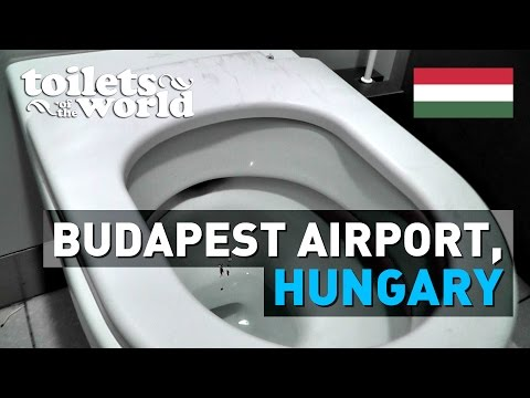Budapest Airport, Hungary • Toilets of the World