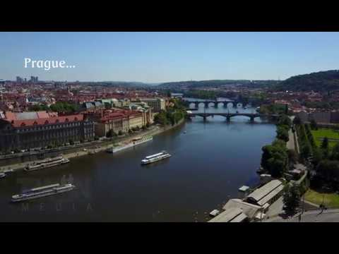 Aerial footage - Prague, Czech Republic