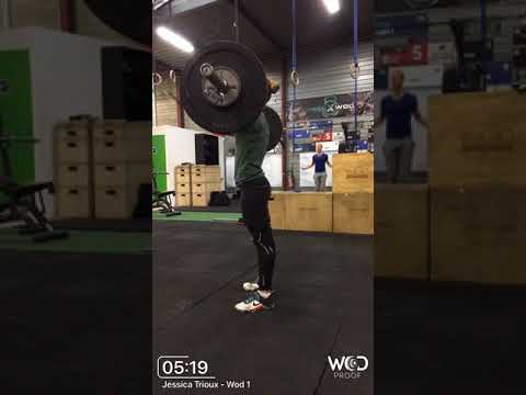 Fittest Cop 2018 WOD 1 -Jessica Trioux Team ARN67 - 8tours + 13 reps total 157 reps