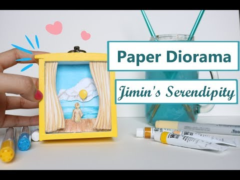 💛Making a Paper Diorama! BTS Serendipity Inspired!💛