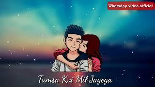 Tanha Tanha Jeete the. Khud Se Baatein Karte The | WhatsApp status | by WhatsApp video official