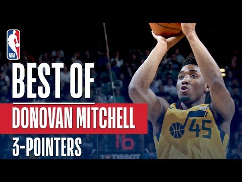 Donovan Mitchell Makes HISTORY! Most 3s In A Season By Any Rookie!