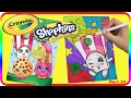 Part 10 - Poppy Corn Shopkin Speed Coloring With Mommy Z ♥ - Washable Crayola Marker