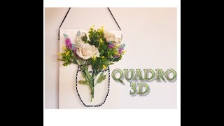 DIY - QUADRO 3D MARAVILHOSO - STRING ART - S.O.S.ISA