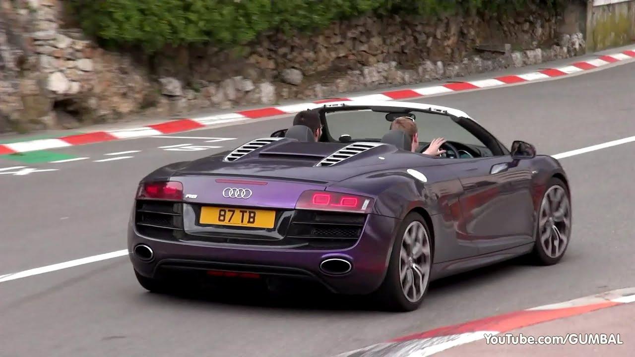 Shmee150 in Monaco driving his Audi R8 V10 Spyder w/ QuickSilver Exhaust! - YouTube