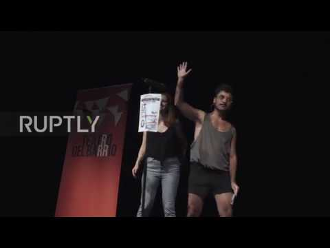 Spain: Activists protest Spanish actor's arrest for BLASPHEMY in Madrid