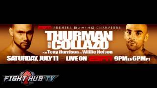 Keith Thurman vs. Luis Collazo Full Video-Complete media teleconference call