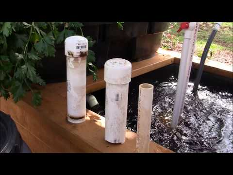 Aquaponics On Wheels #2   Building a Low Maintenance Bell Syphon & Water Flow Per Bed