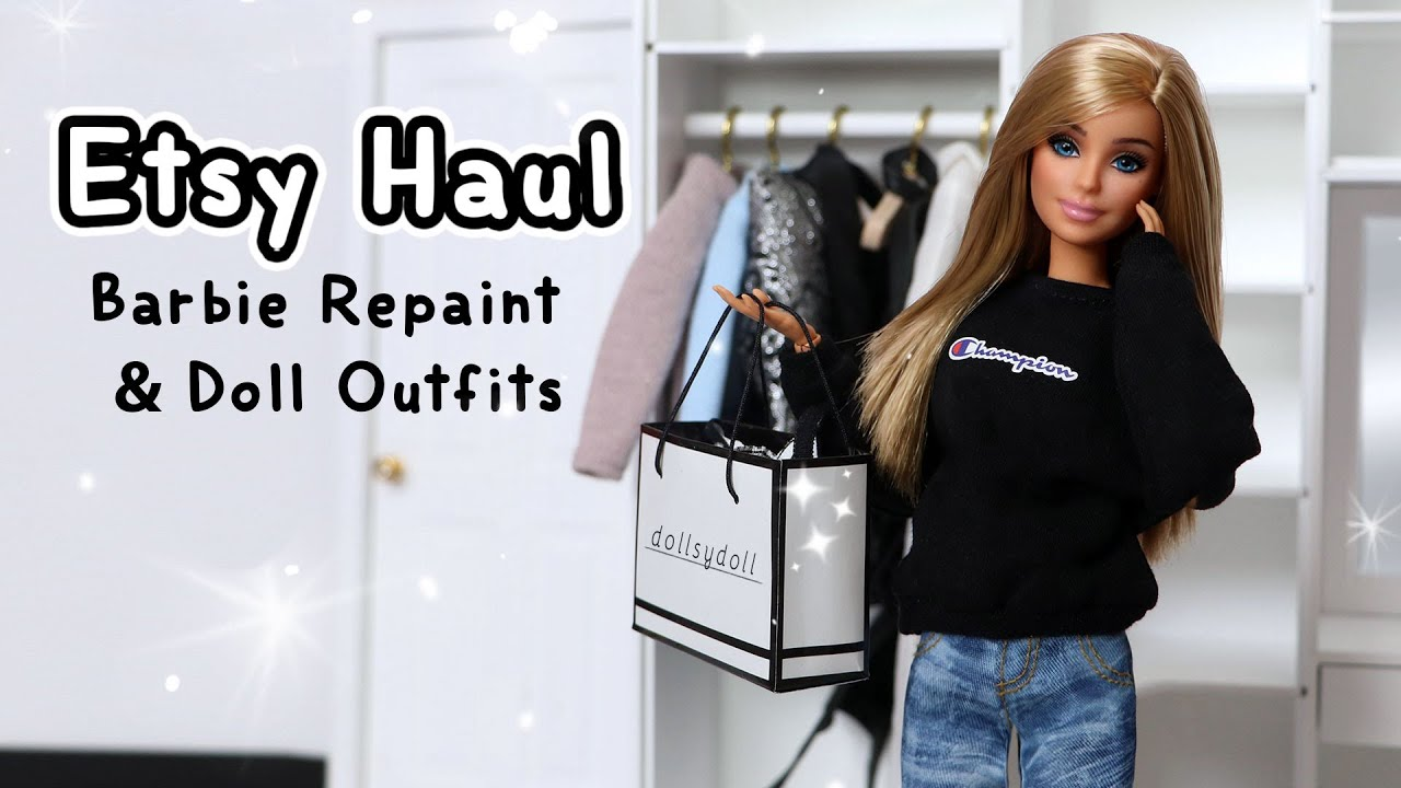 Barbie Etsy Haul: Barbie Repaint, Doll Outfits & More! #6