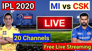 IPL 2020 MI vs CSK live streaming - 9 language 27 channels || Mobile live streaming