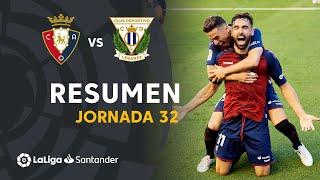 Resumen de CA Osasuna vs CD Leganés (2-1)
