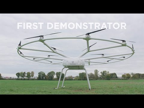 VoloDrone heavy-lift utility drone demonstrator takes off