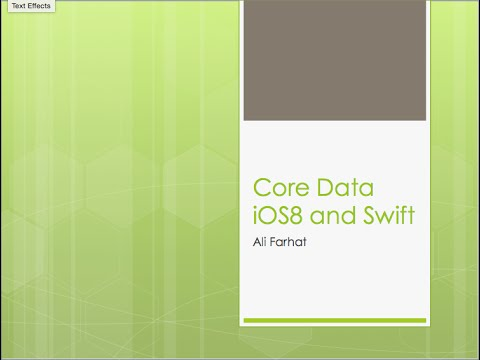 25 - iOS 8 CoreData Swift - Saving Images and Listing Records Part 4/6