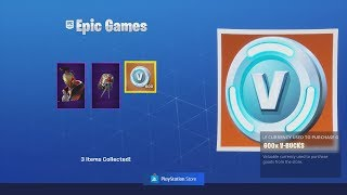 Achat - UNLOCKING NEW 'RED STRIKE PACK' With FREE V-Bucks Fortnite REWARD!