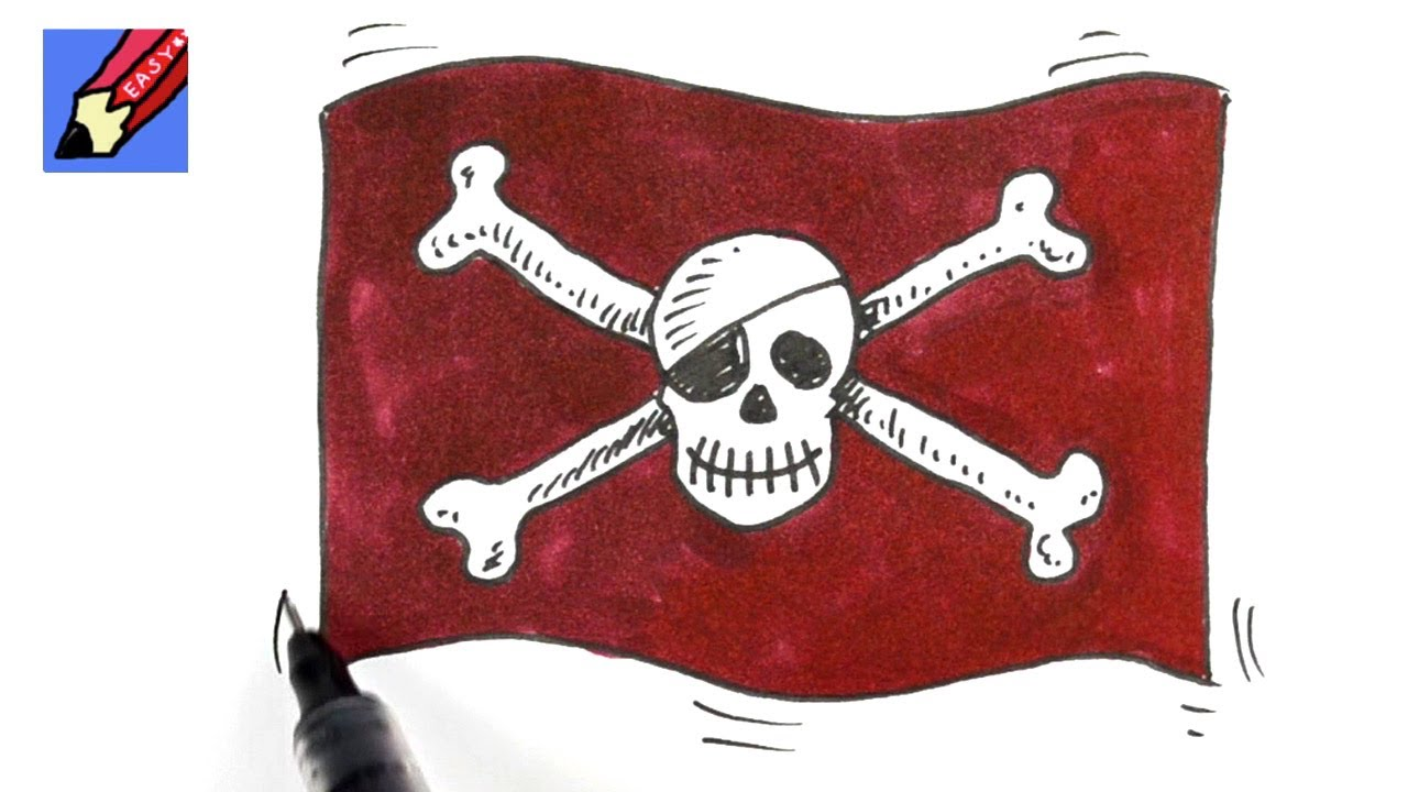 How To Draw Skull And Cross Bones Real Easy Youtube