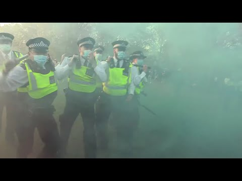 Police go for Sound Equipment  Hyde Park London did'nt go well
